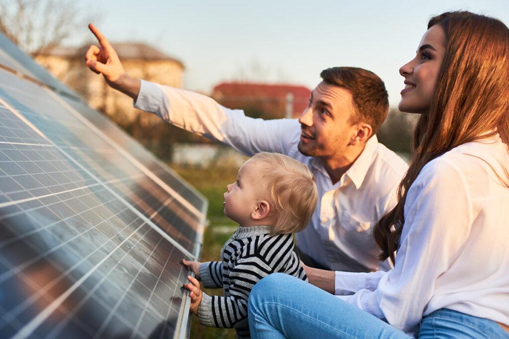 Grön teknik solceller