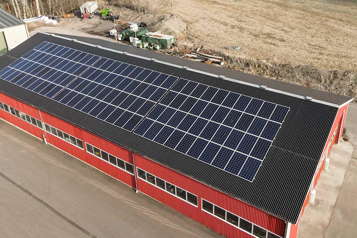 Lantbruk i Ängelholm med solceller