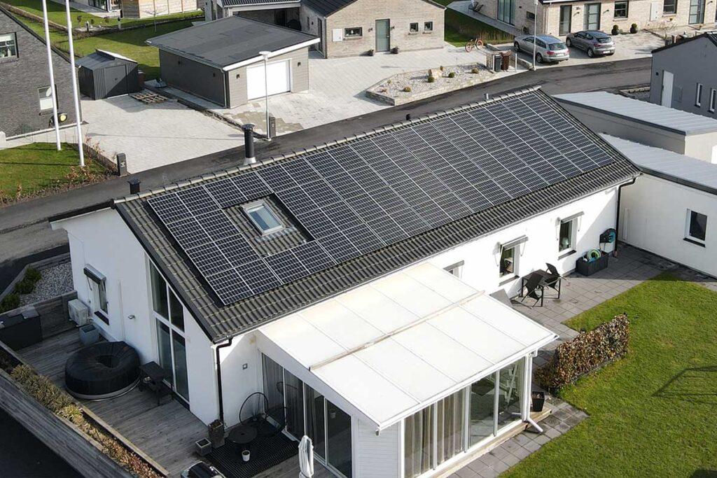 Referensprojekt för solceller, villa i Häljarp